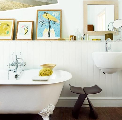 decoración baños cuadros
