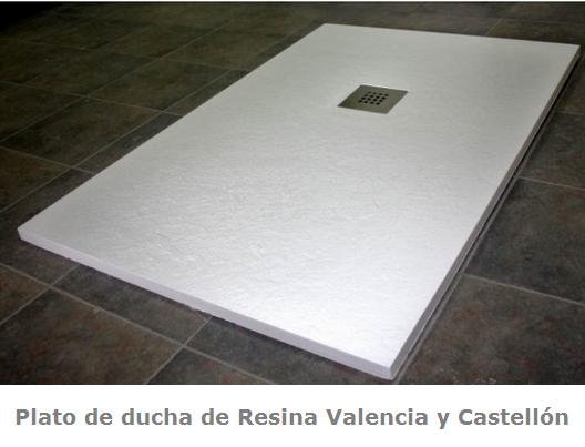 Platos de ducha de resina Valencia y Castellón