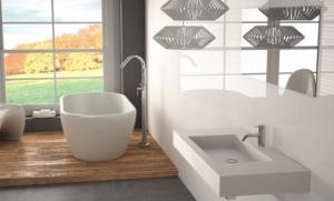 Création d'espaces différents dans une salle de bains