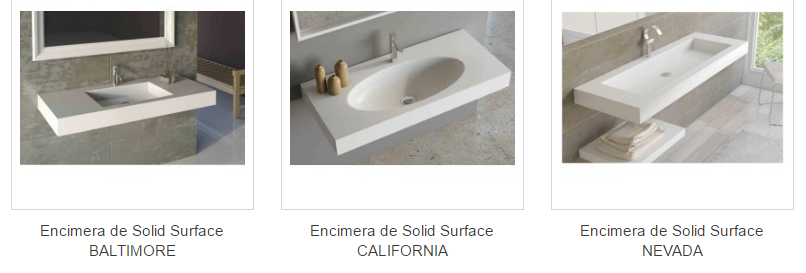 encimeras de baño solid surface
