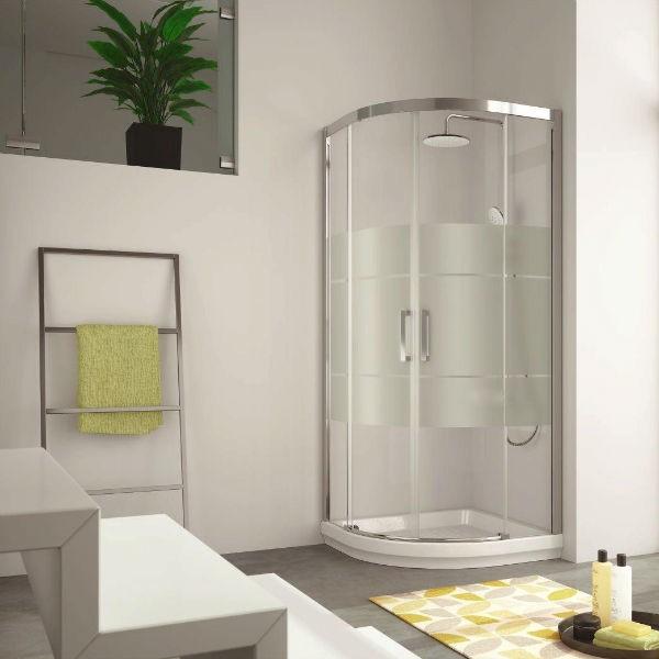 Mampara de ducha semicircular