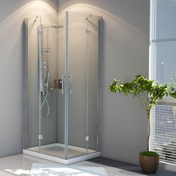 Nuevas mamparas angulares de esquina de dise o for Mampara ducha esquina