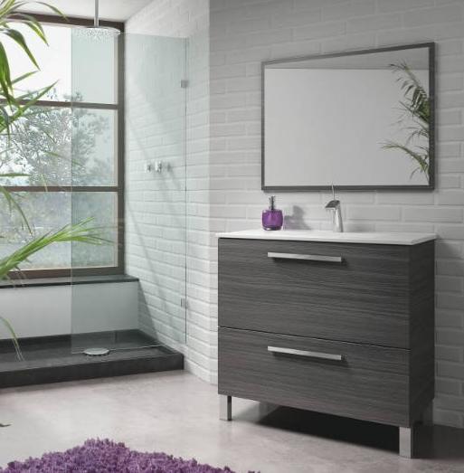 El mueble de baño modelo Manhattan está fabricado con madera de