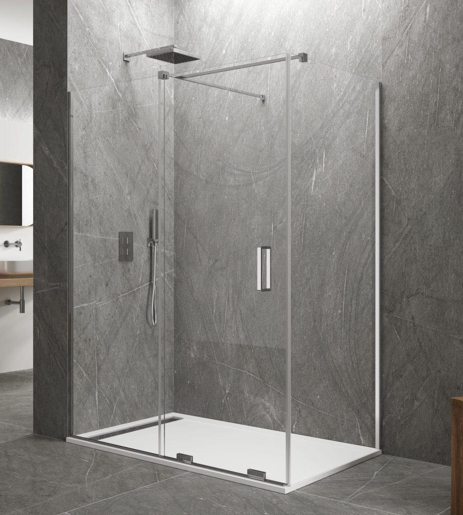 Nouvelle paroi de douche coulissante KENNA + vitre fixe