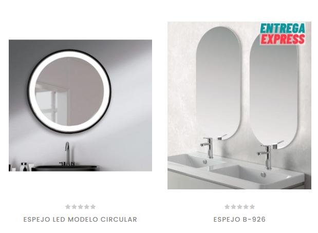 Espejos led con forma redonda o ovalada